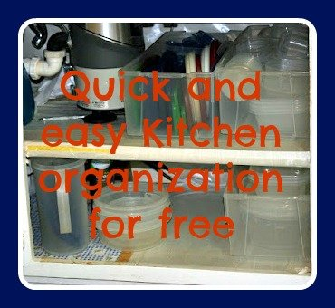 Quick and easy kitchen organization for free