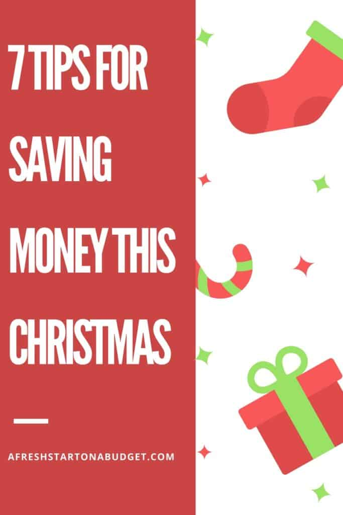 7 tips for saving money this Christmas. Make the holidays less stressful by learning how to save money for the Christmas season.
