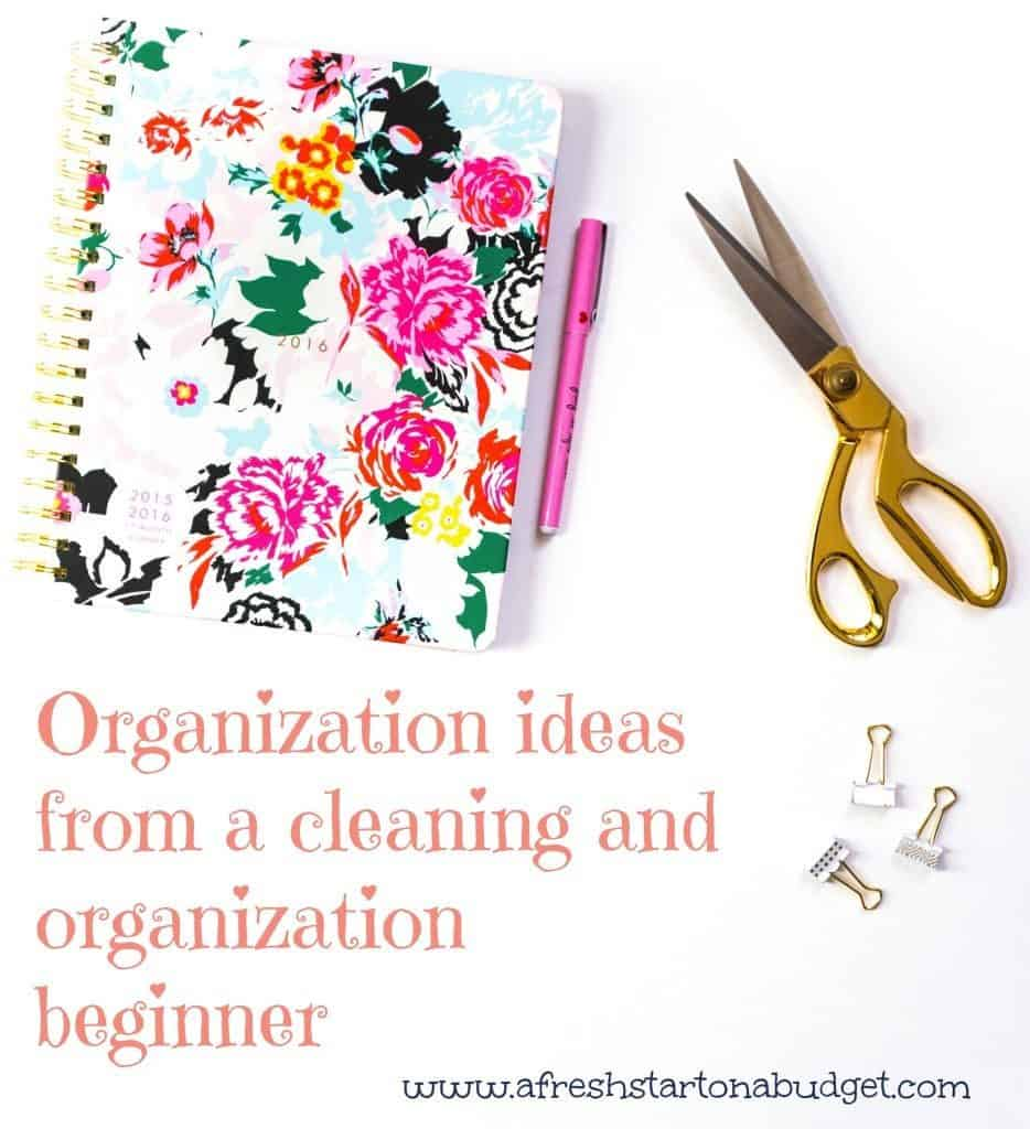 organization and cleaning ideas