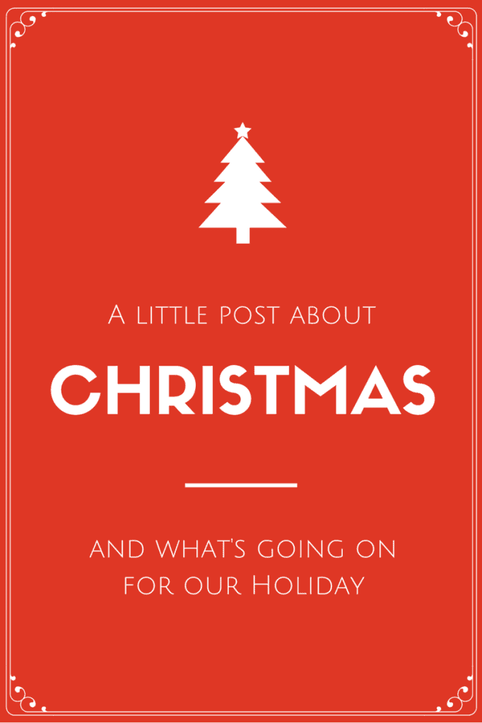 A little post about Christmas