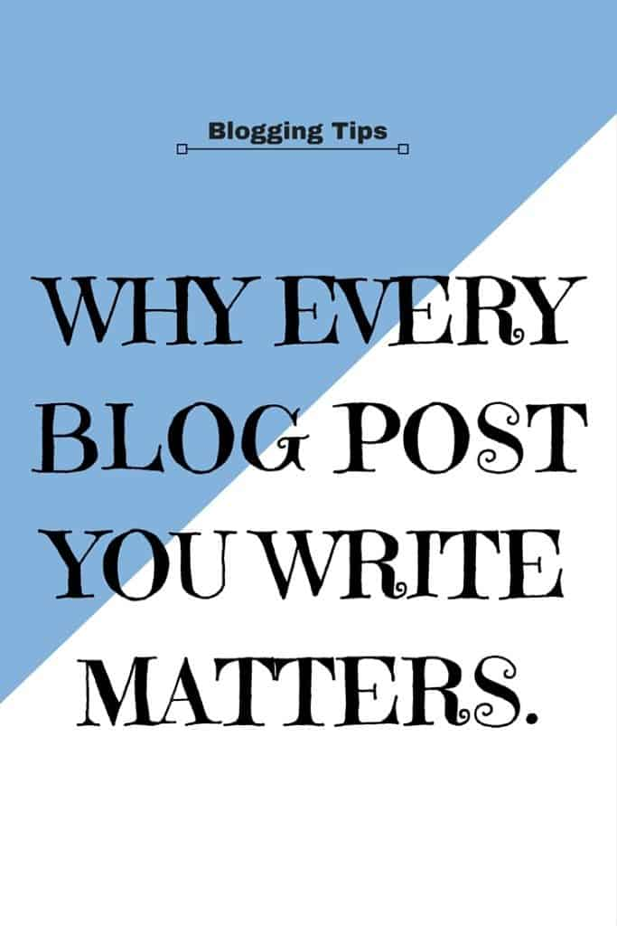 Why every blog post you write matters.