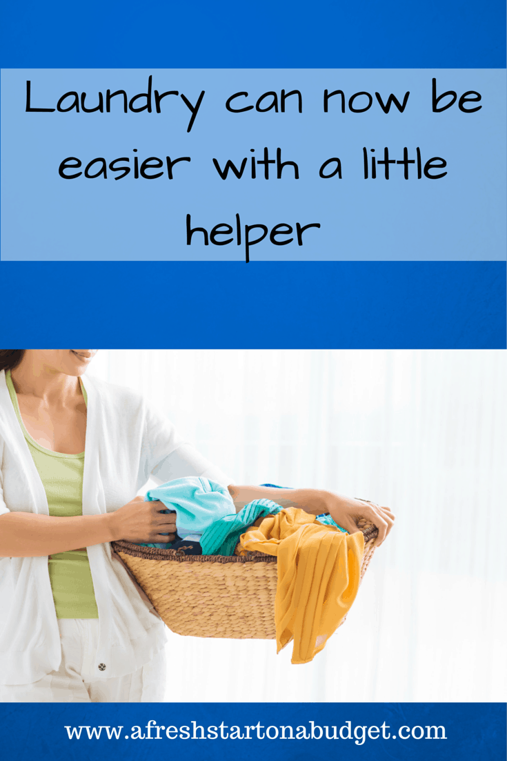 How a little helper makes getting laundry done possible! #laundryredefined