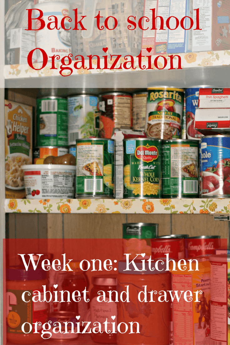 back to organization series week one kitchen cabinets and