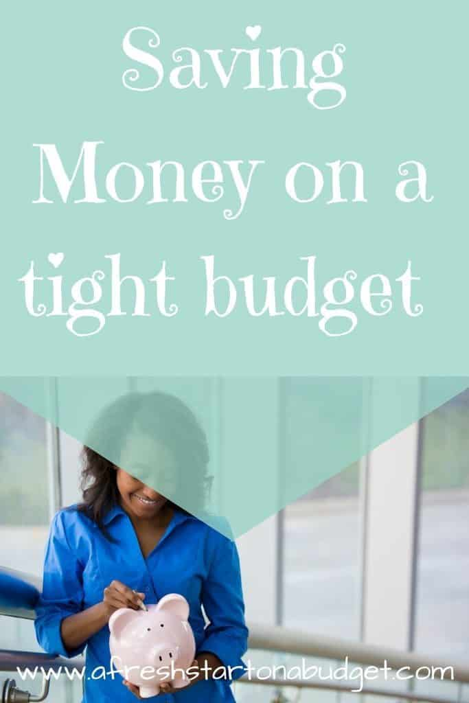 Saving Money on a tight budget