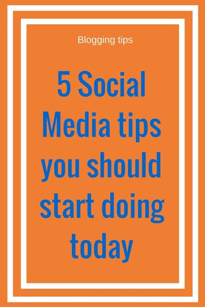 5 Social Media tips you should start doing today. Here are 5 tips to help out bloggers and entrepreneurs grow their social media presence.