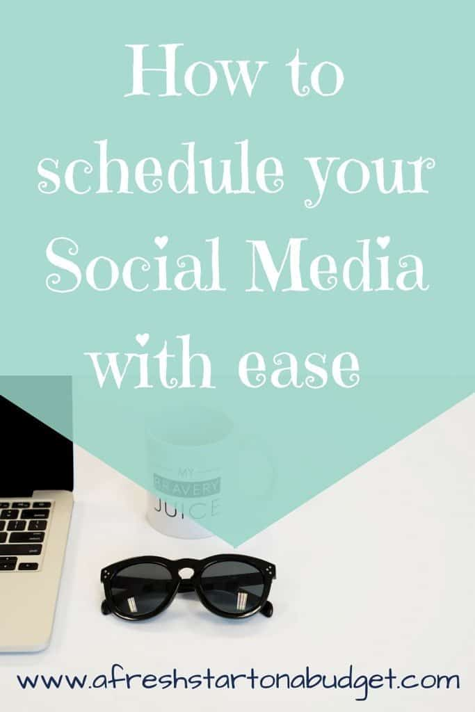 How to schedule your Social Media with ease