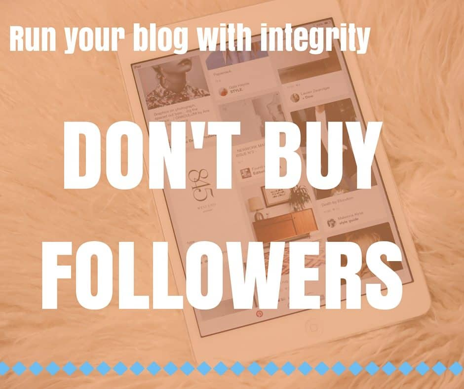 Run your blog with integrity