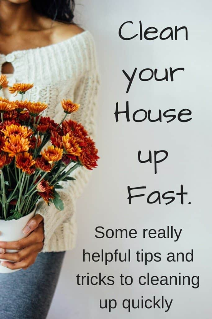 Clean your House up Fast. Some really helpful tips and tricks to cleaning up quickly