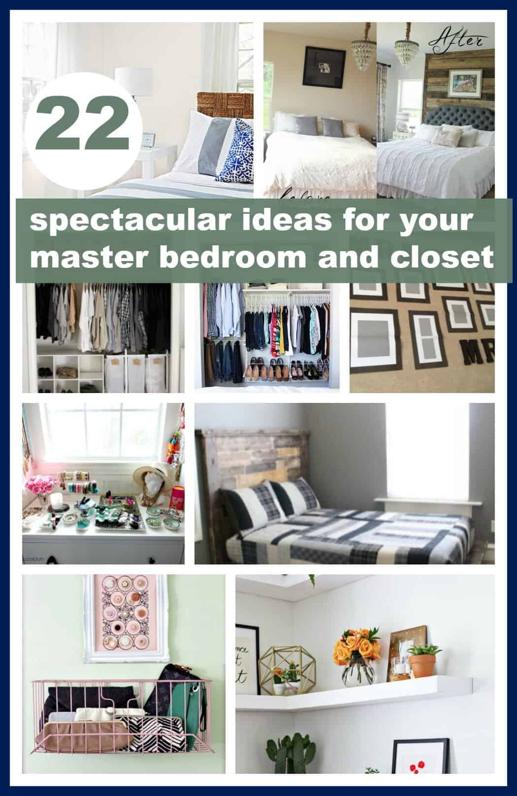 22 spectacular ideas for your master bedroom and closet