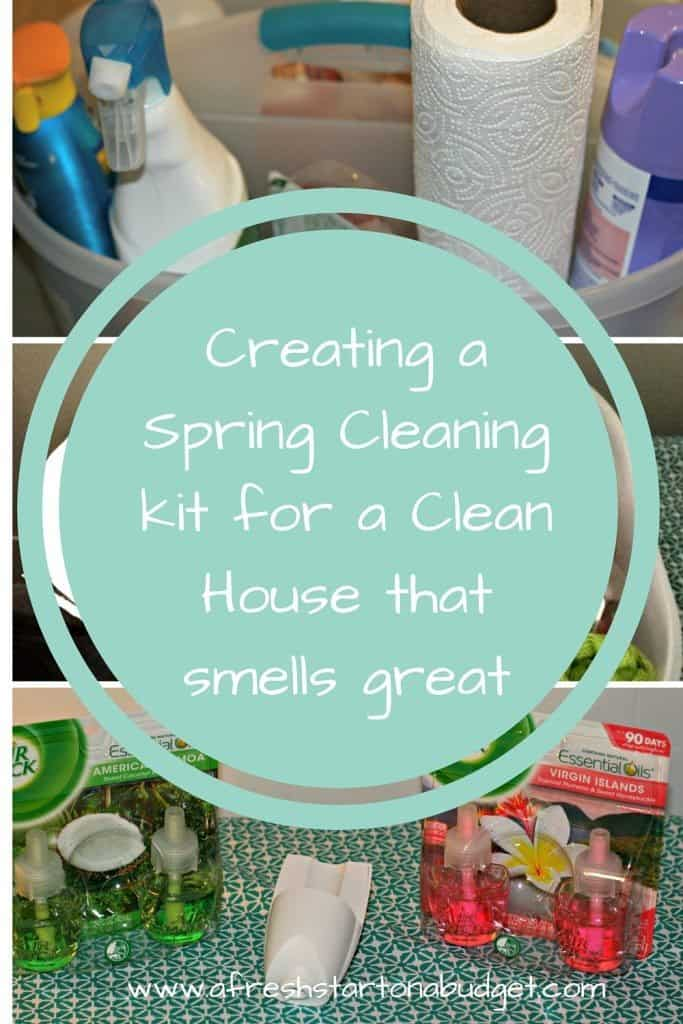 Creating a Spring Cleaning kit for a Clean House that smells great