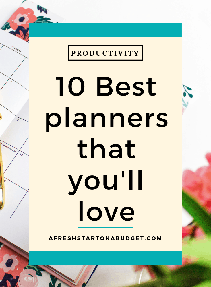 10 Best planners that you'll love