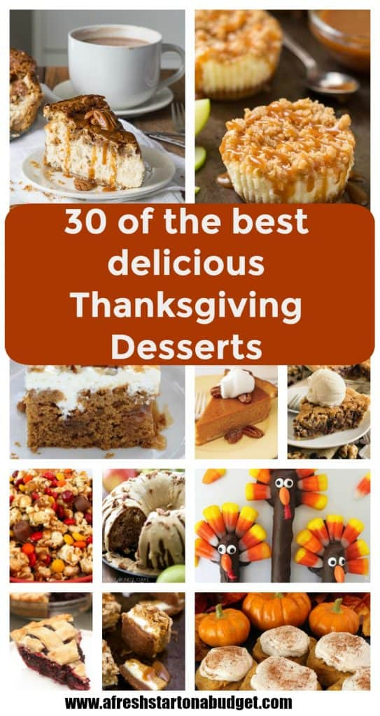 30 of the best most super delicious Thanksgiving Desserts