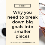 Why you need to break down big goals into smaller pieces #settinggoals #goals #productivity