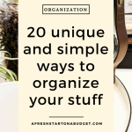 20 unique and simple ways to organize your stuff #homeorganization #organization #housekeeping