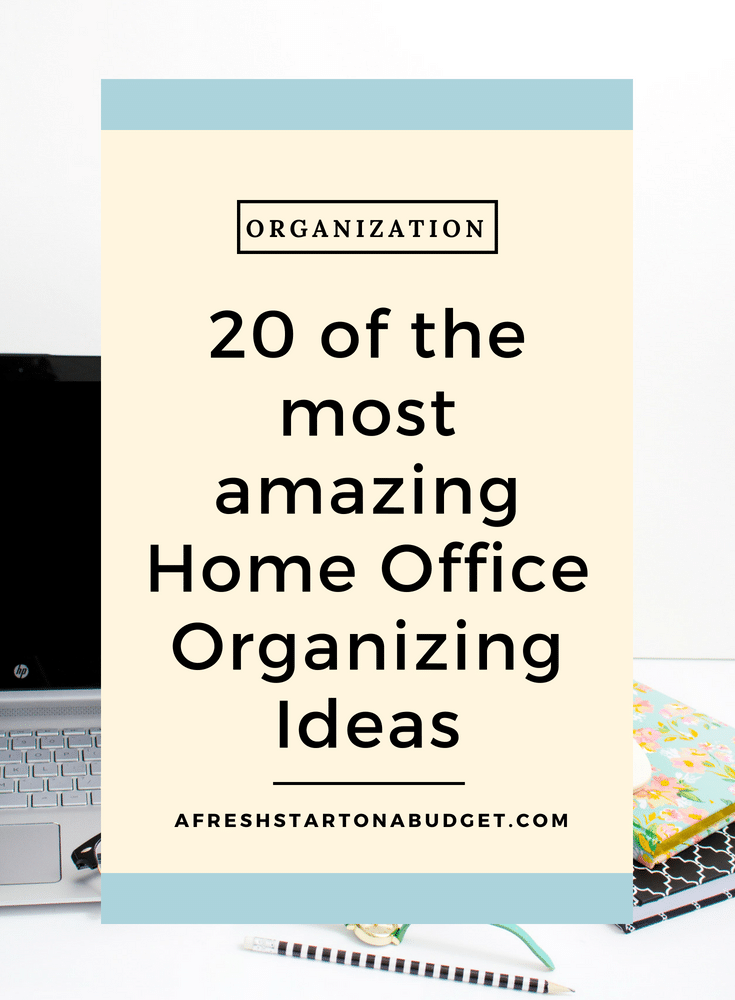 20 Of The Most Amazing Home Office Organizing Ideas #homeorganization  #officeorganization #homemaking