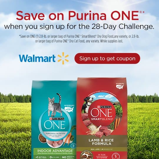 Save money on the furry members of your family with Purina ONE®