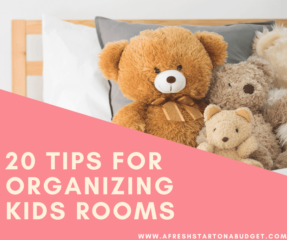 20 Easy ideas for organizing kids rooms