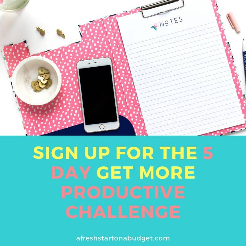 Sign up for the 5 Day Get more productive challenge